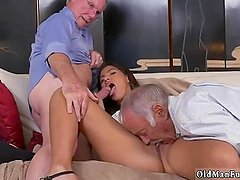 Old man outdoor and two young girls Going