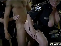Milf ass eating hot blonde police first