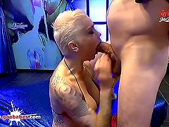 Busty Tattooed Babe Mila Milan first Monster Cock - German Goo Girls