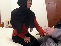 Muslim man and arab girl facial The