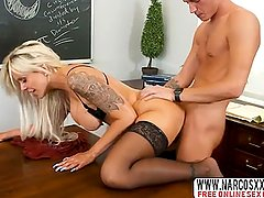 Nina Elle, My Stepmom Blonde Teacher In Stockings