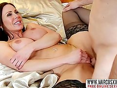Rude Step Mother Kendra Lust In Stockings Needs Extreme Cock
