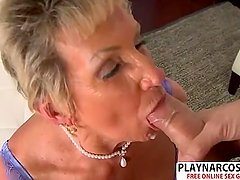 Sensuous Stepmom Sandra Ann Gives Blowjob Sweet Tender Son