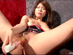 Vibrating dildo for her pretty pussy