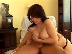 Perfect bodied milf with gorgeous tits smothers dick