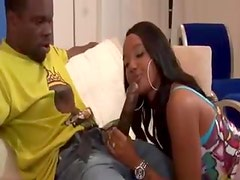 His girl arrives to suck black cock
