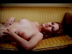 Horny retro couple fuck on the couch