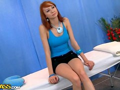 Amazingly Beautiful Redhead Is Given A Great Massage As Well As A Fuck