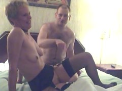 Swinger mature bent over and fucked from behind