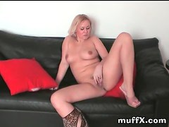 Big black toy in the amateur girl
