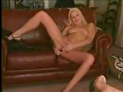 Beautiful ladies around the room masturbate