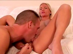 Feverish pussy eating and fucking of hot blonde