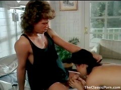 Retro babe blows him and gets boned