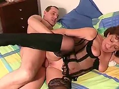 Mature with a cock in her box