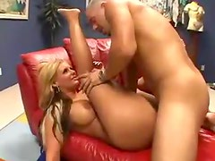Big tits big ass blonde gets ravaged raw