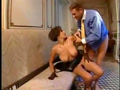 Lace gloves on hottie taking cock in the cunt