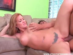 Shaved and tattooed girl fucked hard