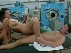 Factory workers gangbang a couple of sluts