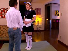 Obedient House Maid Rin Sakuragi Gets Her Pussy Pleased