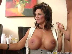 Horny Milf And Her Husband Settle Their Divorce Paper With A Threesome