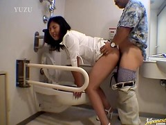 Hiiragi Gets A Hardcore Pounding At A Public Restroom