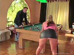 Phoenix Marie Plays With Some Ball As She Plays Pool