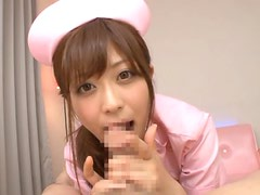 Asian Haruki Sato Looks So Sexy In Her Nurse Outfit As She Gives A Blowjob