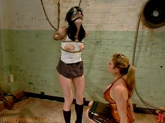 Kinky Lesbian Dominatrix Doing Whatever She Wants With This Brunette