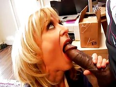 Blonde MILF loves some black cock