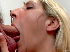 Marie Madison Just Loves Slobbing Over Rock Solid Dicks