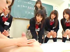 Asian Teacher Showing Her School Girls How To Have Hardcore Sex