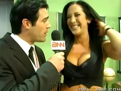 Bonerific Brunette Jayden Jaymes Chokes On A Fat Cock