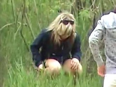 Voyeur video of girl pissing outdoors