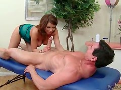 Sensual massage and big cock BJ