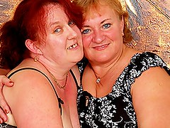 Aged bbw femmes get laid surrounding playthings