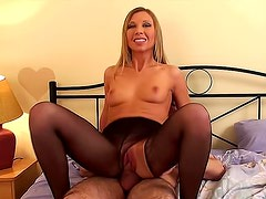 Brave Jessy wants her daddy to cum on her stockings
