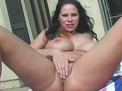 Gianna Michaels bikini tease outdoors