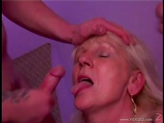 Sexy Mature Blonde Getting Double Teamed