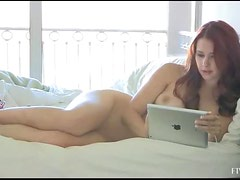 Melody Shows Her Pink Shaved Pussy In A Hot Solo Girl Scene