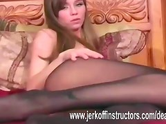 Pantyhose stripping action