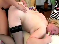 Strapon sex spices up mature lesbian video