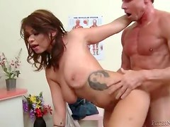 Peter North plows big natural tits girl