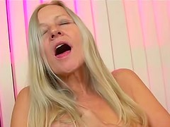 Horny mature taking dick and cumshot