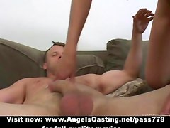 Hot blonde fucked hard in different positions and cumshot on face