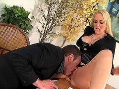 Nude and killing Alana Evans is sucking well in the office