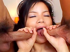 Anal & creampie with couple milfs