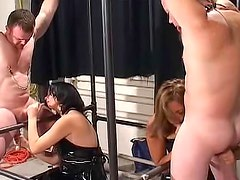 Captivating and nude cock sucker is satisfying her young buddy