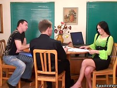Kristina Has A Threesome With Two Of Her Classroom Crushes