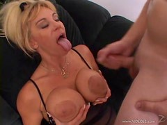 Busty Milf Kat Kleevage Rides One Hell Of A Horny Cock
