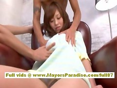 Mihiro Chinese tied up while being teased with a vibrator